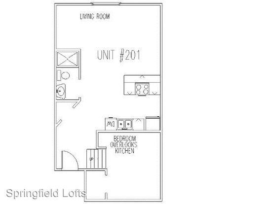 1 Bedroom 1 Bathroom Apartment for rent at 210 E. Walnut in Springfield, MO