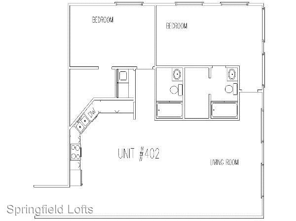 2 Bedrooms 2 Bathrooms Apartment for rent at 210 E. Walnut in Springfield, MO