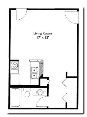 Studio 1 Bathroom Apartment for rent at Grand Canyon Apartments in Madison, WI