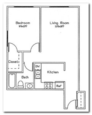 1 Bedroom 1 Bathroom Apartment for rent at Femrite Commons in Monona, WI