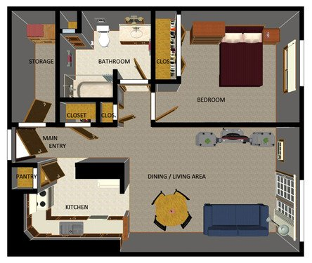 1 Bedroom 1 Bathroom Apartment for rent at Dempsey Commons in Madison, WI