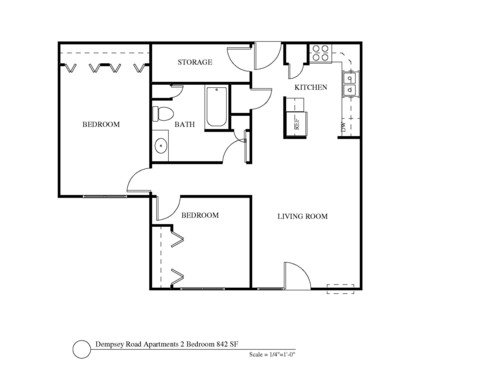 2 Bedrooms 1 Bathroom Apartment for rent at Dempsey Commons in Madison, WI