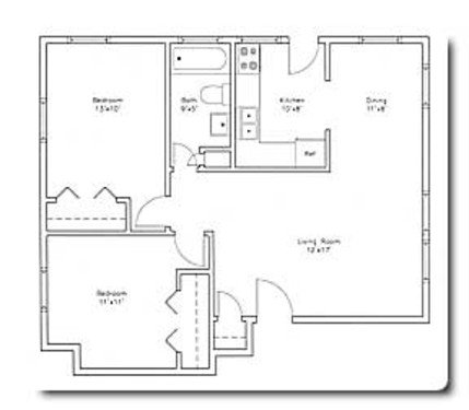 2 Bedrooms 1 Bathroom Apartment for rent at 6302 / 6304 East Gate Road in Madison, WI