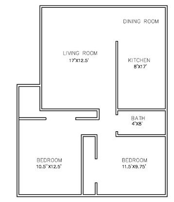 2 Bedrooms 1 Bathroom Apartment for rent at Topp Avenue Apartments in Verona, WI