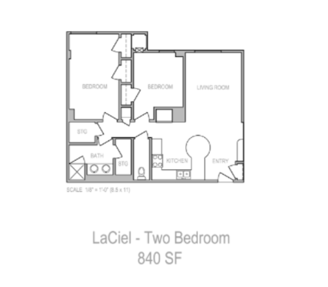 2 Bedrooms 1 Bathroom Apartment for rent at LaCiel in Madison, WI