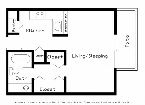 Studio 1 Bathroom Apartment for rent at Cherry Tree Crossing in Madison, WI