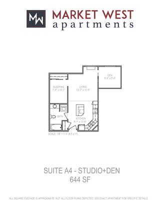 Studio 1 Bathroom Apartment for rent at Market West in Middleton, WI
