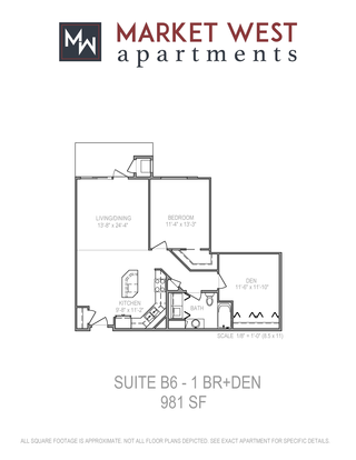 1 Bedroom 1 Bathroom Apartment for rent at Market West in Middleton, WI