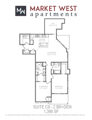 2 Bedrooms 2 Bathrooms Apartment for rent at Market West in Middleton, WI
