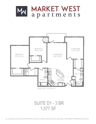 3 Bedrooms 2 Bathrooms Apartment for rent at Market West in Middleton, WI