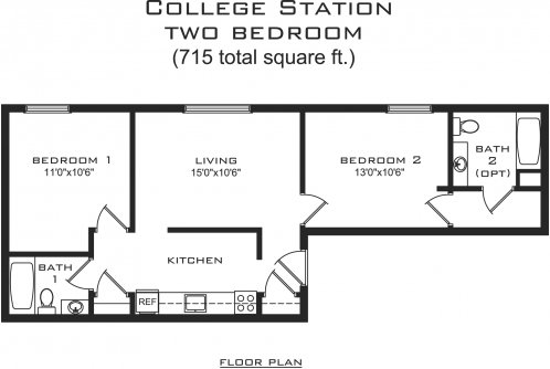 2 Bedrooms 1 Bathroom Apartment for rent at College Station in Madison, WI