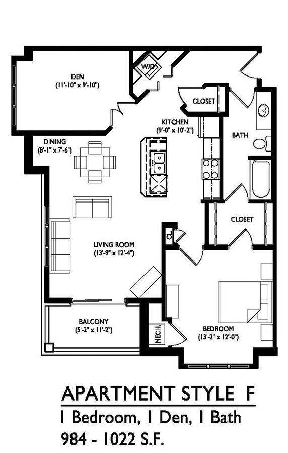 1 Bedroom 1 Bathroom Apartment for rent at Waldorf Midtown in Madison, WI