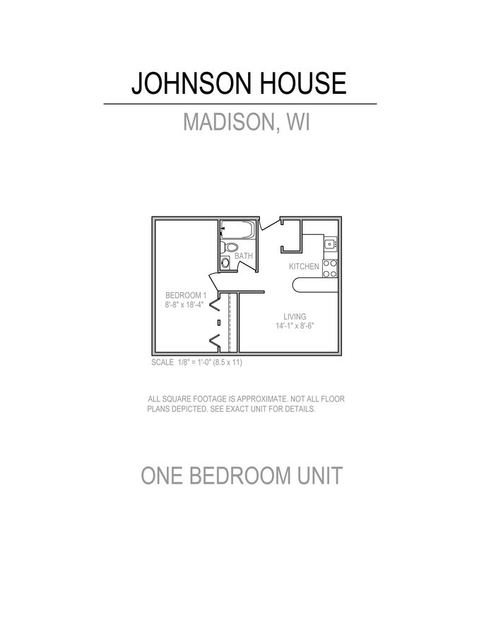 1 Bedroom 1 Bathroom Apartment for rent at Johnson House in Madison, WI