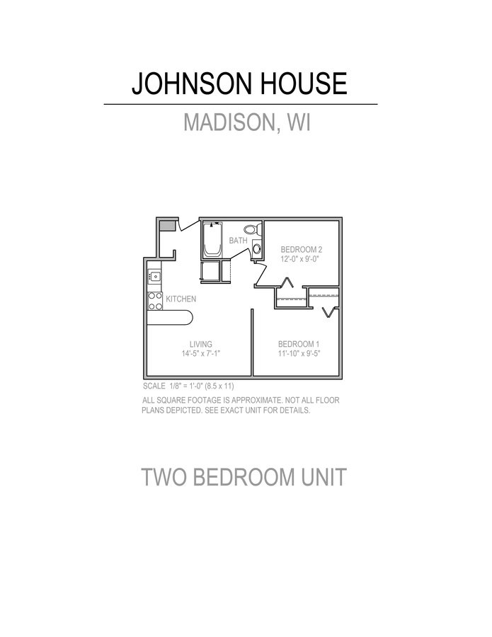 2 Bedrooms 1 Bathroom Apartment for rent at Johnson House in Madison, WI