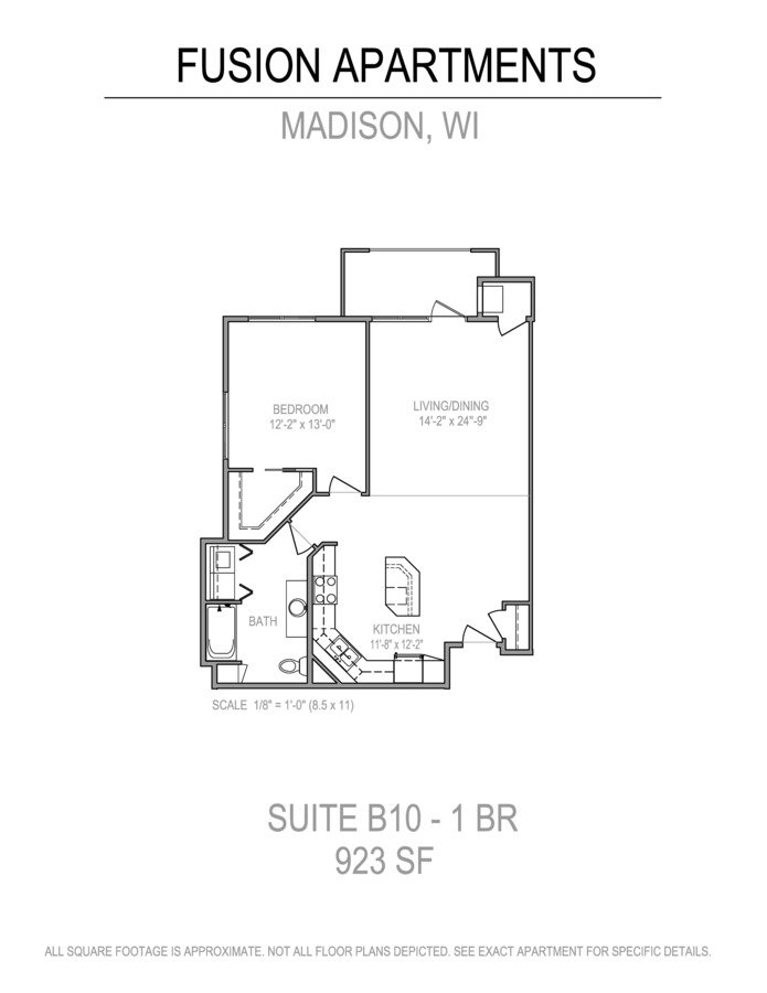 1 Bedroom 1 Bathroom Apartment for rent at Fusion@841 in Madison, WI