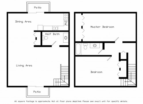 2 Bedrooms 1 Bathroom Apartment for rent at Brookstone Townhomes in Fitchburg, WI