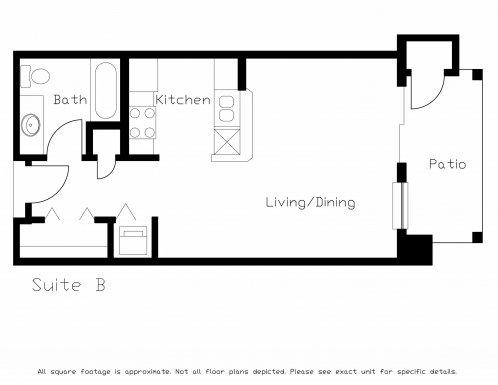 Studio 1 Bathroom Apartment for rent at Highland Ridge of Seminole in Fitchburg, WI