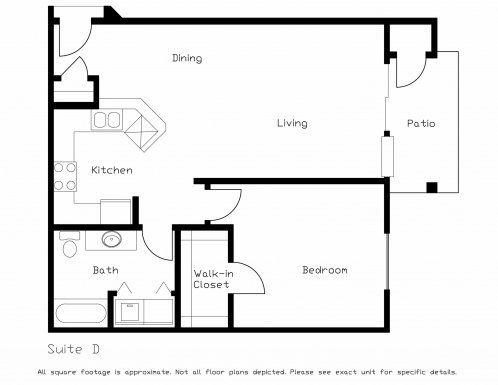 1 Bedroom 1 Bathroom Apartment for rent at Highland Ridge of Seminole in Fitchburg, WI