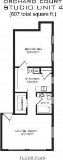 1 Bedroom 1 Bathroom Apartment for rent at Orchard Court in Madison, WI