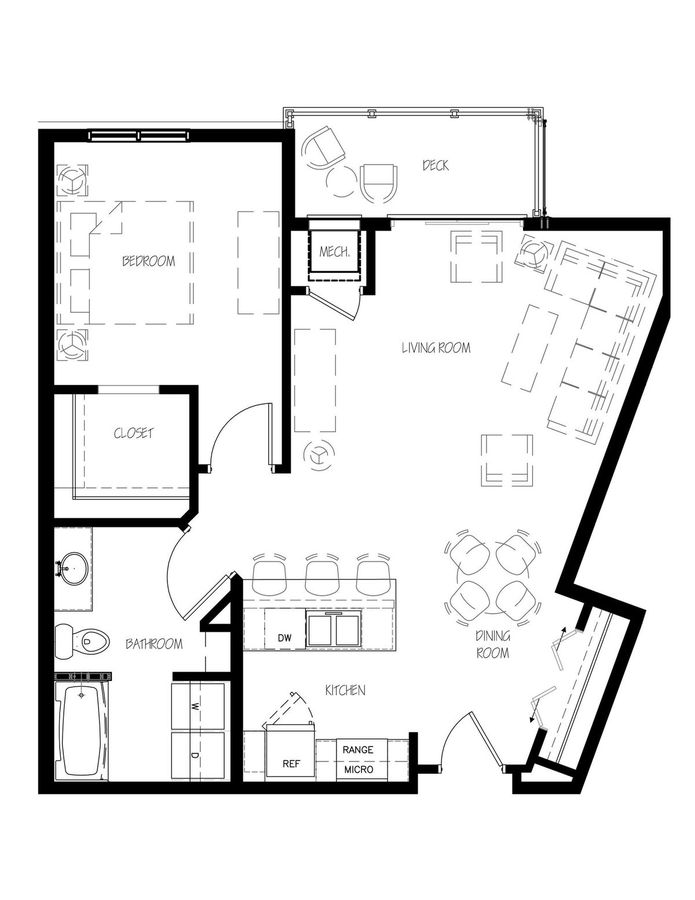 1 Bedroom 1 Bathroom Apartment for rent at Esser Place in Cross Plains, WI
