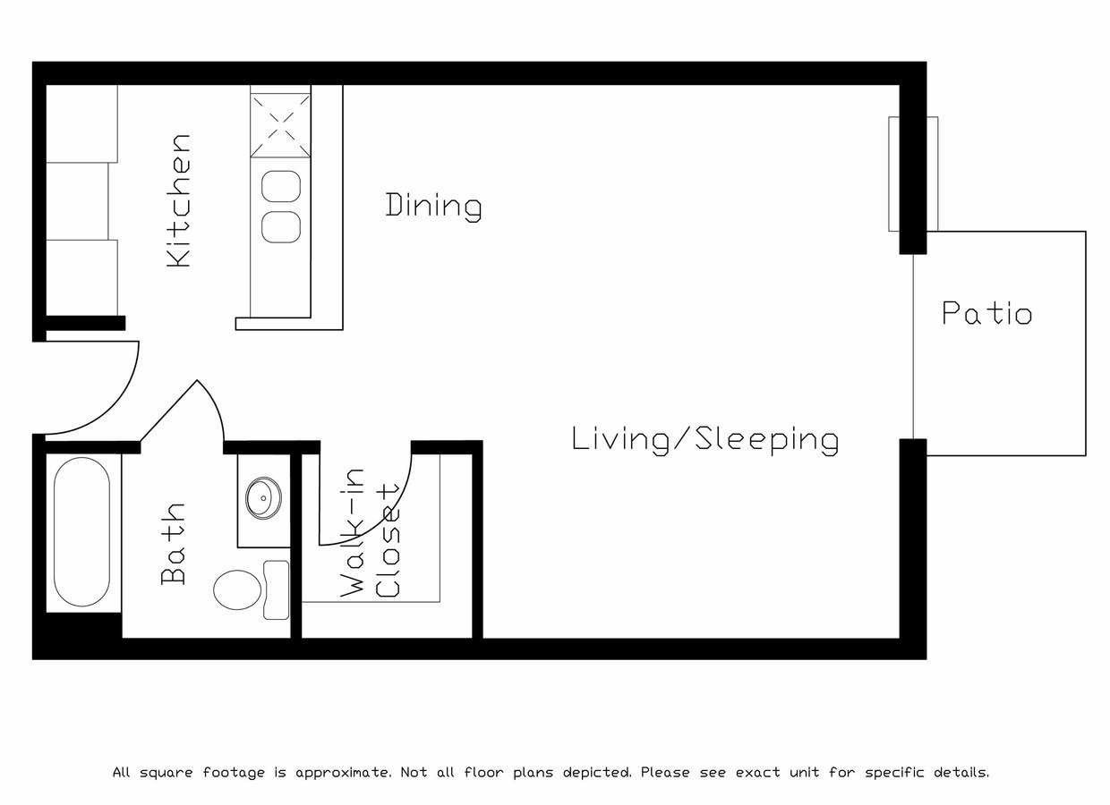 Studio 1 Bathroom Apartment for rent at Gateway Commons in Sun Prairie, WI