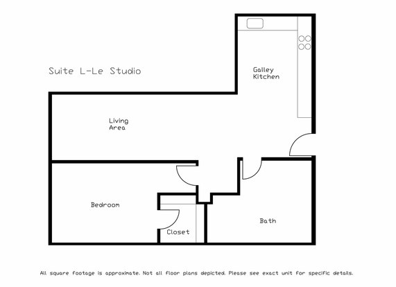 Studio 1 Bathroom Apartment for rent at LaCiel in Madison, WI