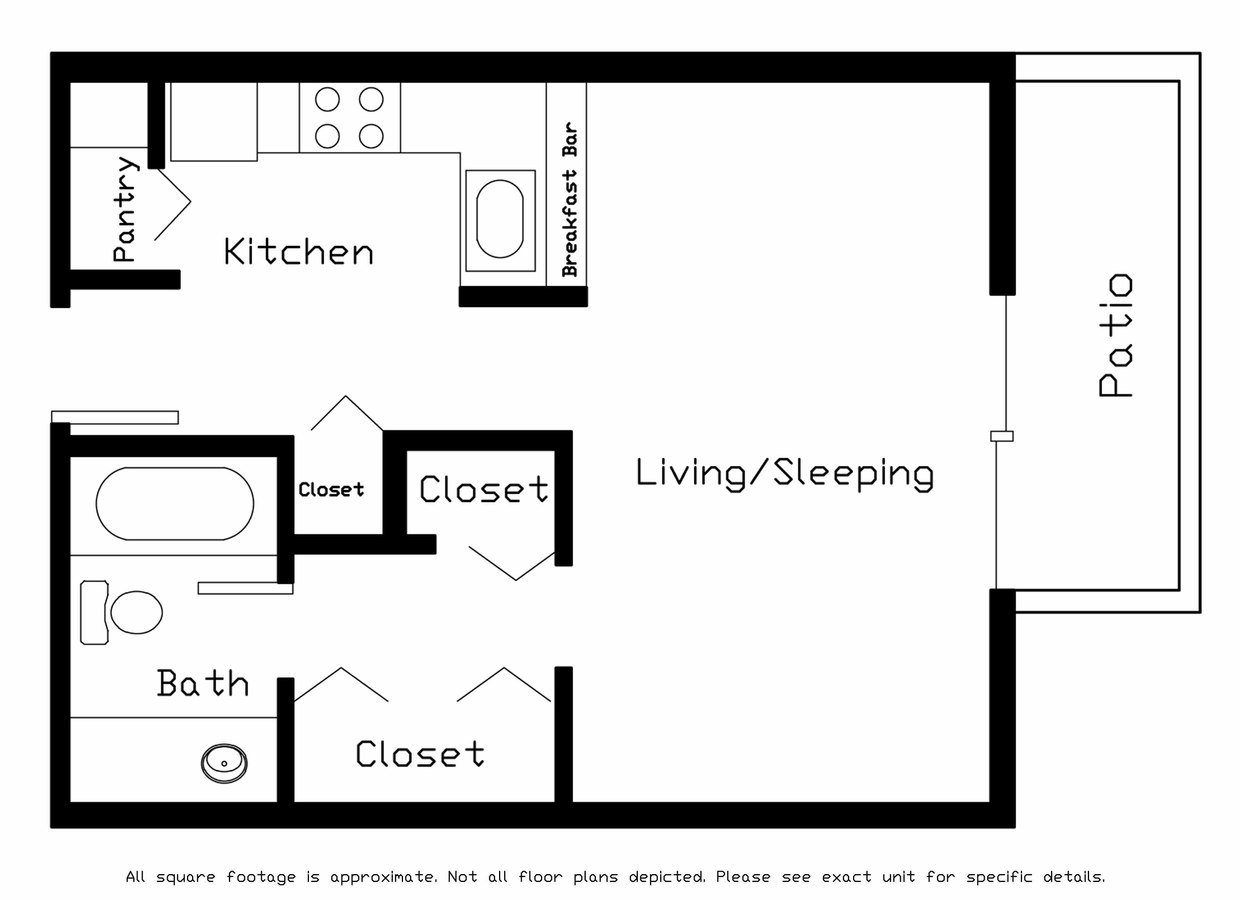 Studio 1 Bathroom Apartment for rent at Forest Ridge in Middleton, WI