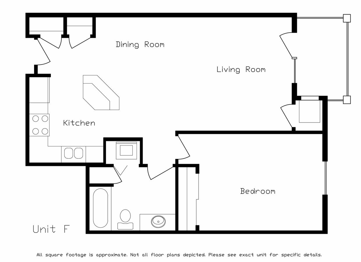 1 Bedroom 1 Bathroom Apartment for rent at Prairie Towne Square in Sun Prairie, WI
