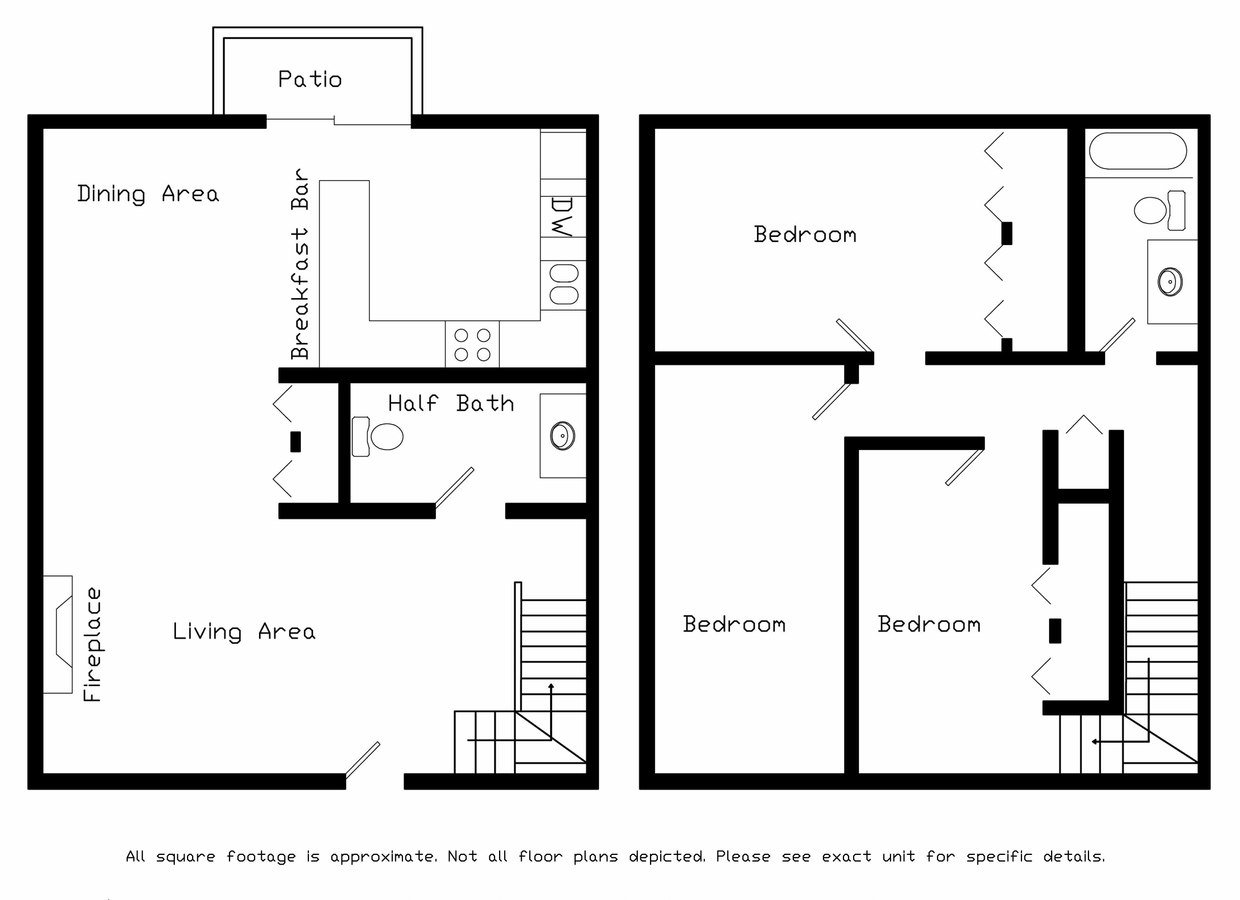 3 Bedrooms 1 Bathroom Apartment for rent at Brookstone Townhomes in Fitchburg, WI
