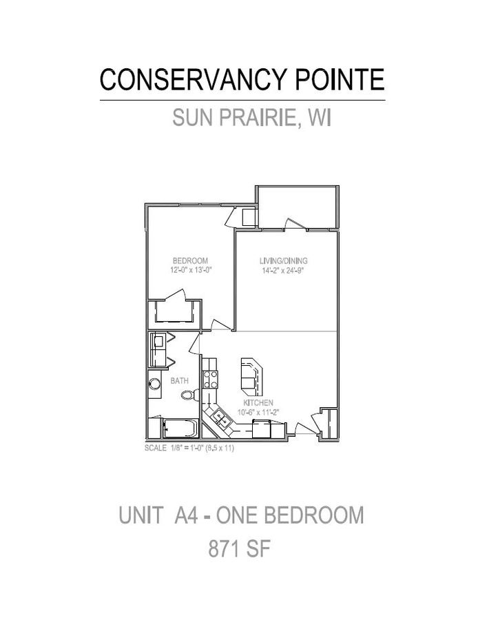 1 Bedroom 1 Bathroom Apartment for rent at Conservancy Pointe in Sun Prairie, WI