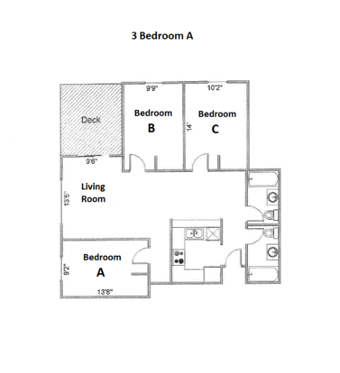 3 Bedrooms 2 Bathrooms Apartment for rent at Ph Apartments in Madison, WI