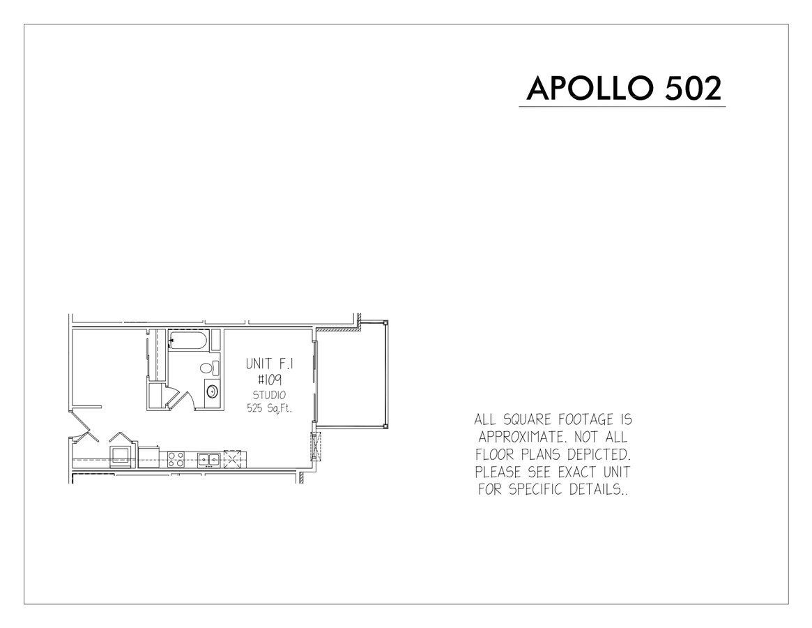 Studio 1 Bathroom Apartment for rent at Apollo 502 in Madison, WI