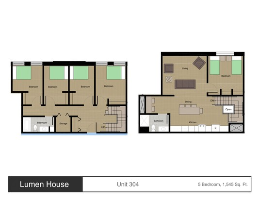5 Bedrooms 2 Bathrooms Apartment for rent at Lumen House in Madison, WI