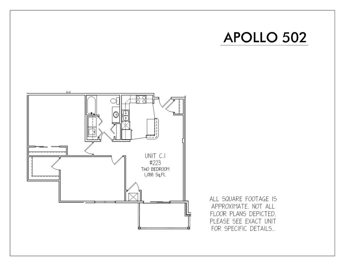 1 Bedroom 1 Bathroom Apartment for rent at Apollo 502 in Madison, WI