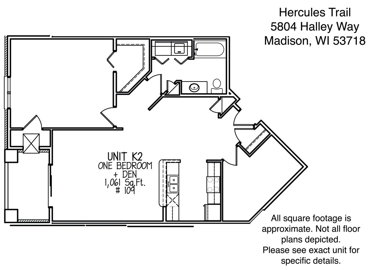 1 Bedroom 1 Bathroom Apartment for rent at Hercules Trail in Madison, WI