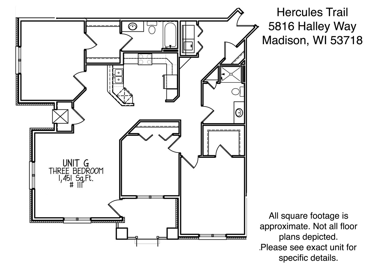 3 Bedrooms 2 Bathrooms Apartment for rent at Hercules Trail in Madison, WI