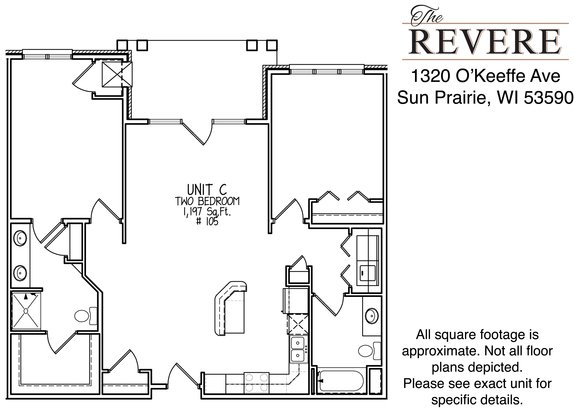 2 Bedrooms 2 Bathrooms Apartment for rent at The Revere at Smith's Crossing in Sun Prairie, WI