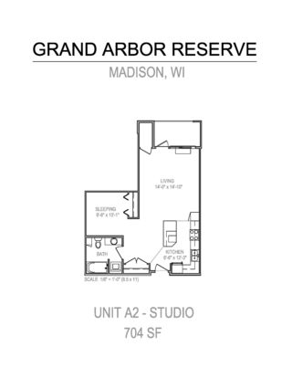 Studio 1 Bathroom Apartment for rent at Grand Arbor Reserve in Madison, WI
