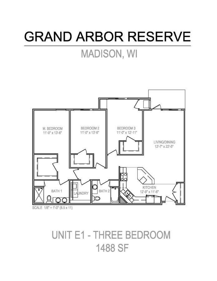 3 Bedrooms 2 Bathrooms Apartment for rent at Grand Arbor Reserve in Madison, WI