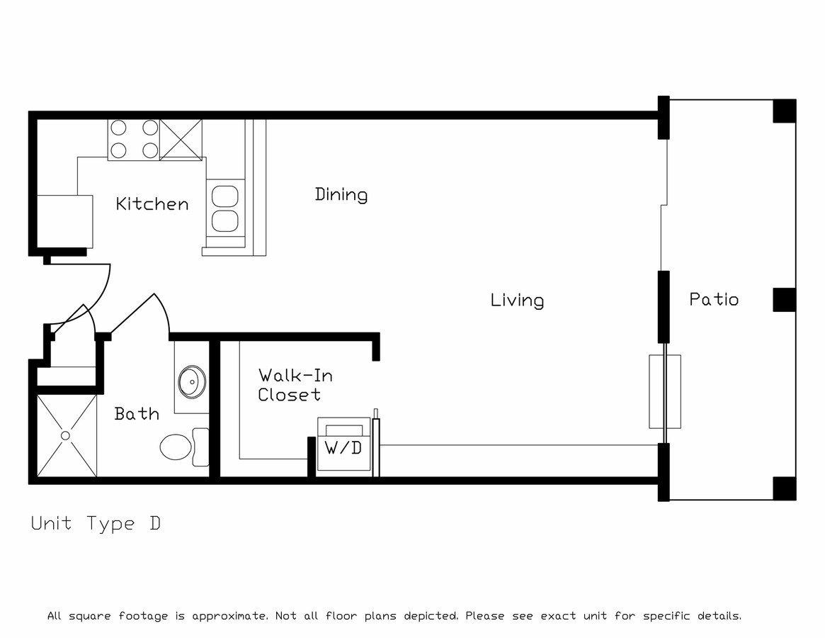 Studio 1 Bathroom Apartment for rent at Highland Fields in Deforest, WI