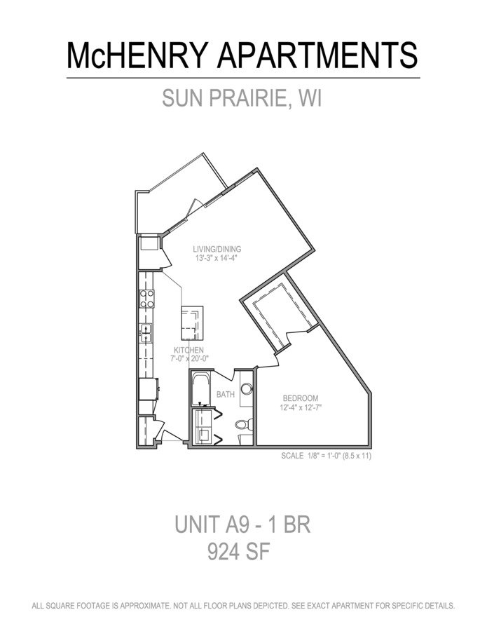 1 Bedroom 1 Bathroom Apartment for rent at The Mchenry in Sun Prairie, WI