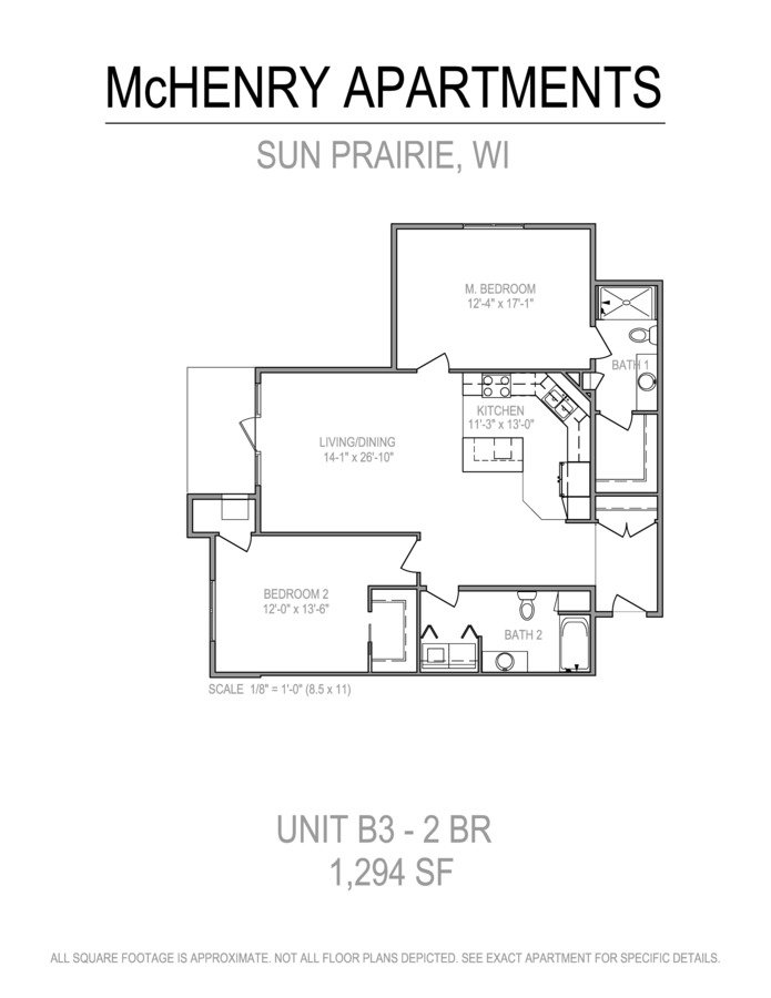 2 Bedrooms 2 Bathrooms Apartment for rent at The Mchenry in Sun Prairie, WI