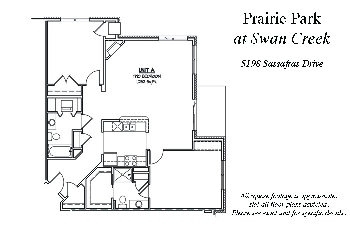 2 Bedrooms 2 Bathrooms Apartment for rent at Prairie Park At Swan Creek Rentals in Fitchburg, WI