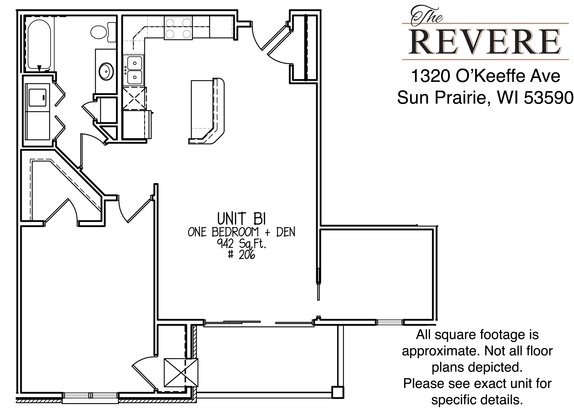 1 Bedroom 1 Bathroom Apartment for rent at The Revere at Smith's Crossing in Sun Prairie, WI