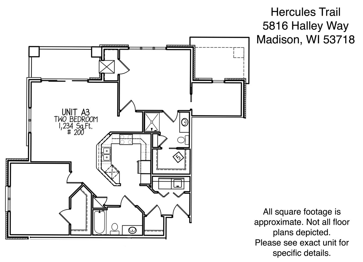 2 Bedrooms 2 Bathrooms Apartment for rent at Hercules Trail in Madison, WI