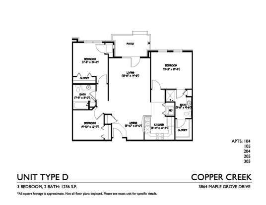 2 Bedrooms 2 Bathrooms Apartment for rent at Copper Creek in Madison, WI