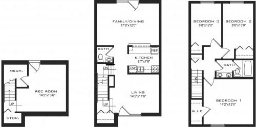 3 Bedrooms 2 Bathrooms Apartment for rent at Orchard Court in Madison, WI