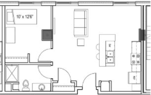 1 Bedroom 1 Bathroom Apartment for rent at X in Madison, WI