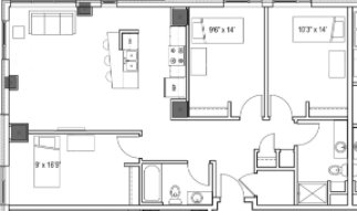 3 Bedrooms 2 Bathrooms Apartment for rent at Park Regent Apartments in Madison, WI