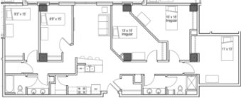 5 Bedrooms 2 Bathrooms Apartment for rent at Park Regent Apartments in Madison, WI